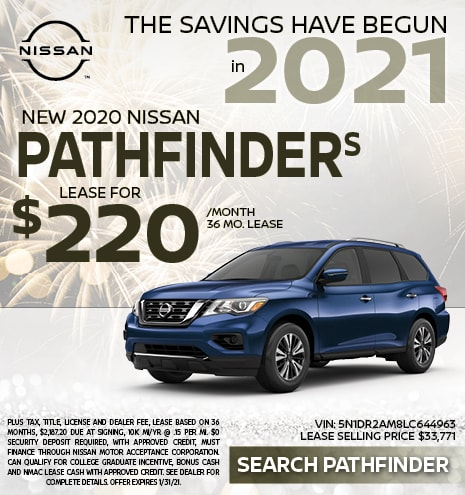 2020 Nissan Pathfinder January Offer