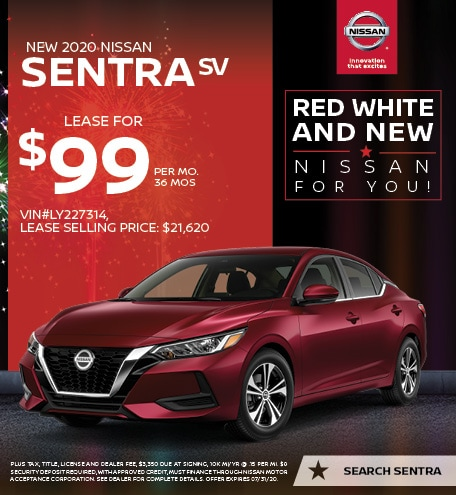 2020 Nissan Sentra July Offers