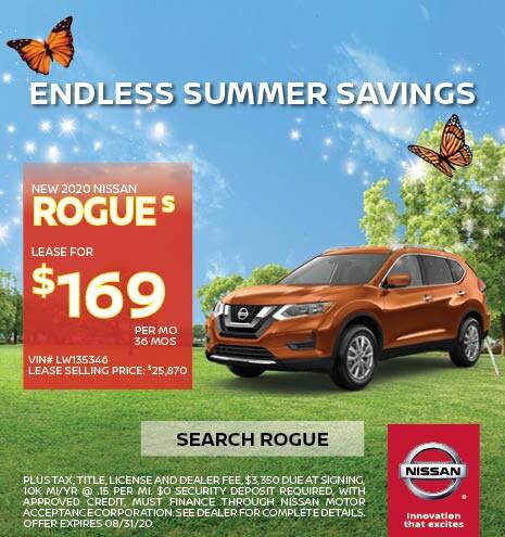2020 Nissan Rogue August Offer