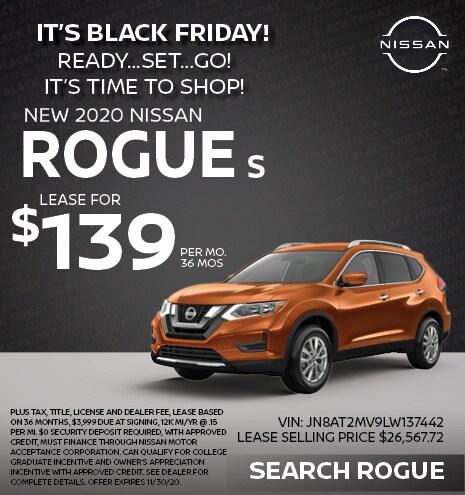 2020 Nissan Rogue November Offer