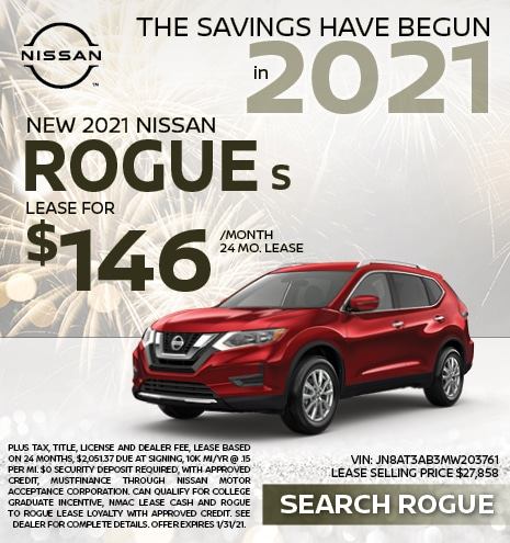 2021 Nissan Rogue January Offer