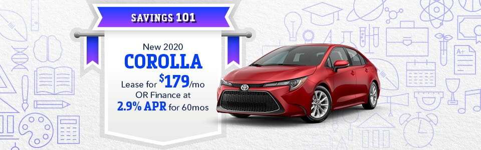 September 2020 Corolla lease