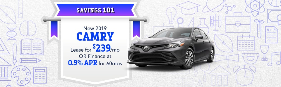 September 2019 Camry lease