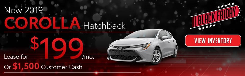 November 2019 Corolla Hatchback Offer