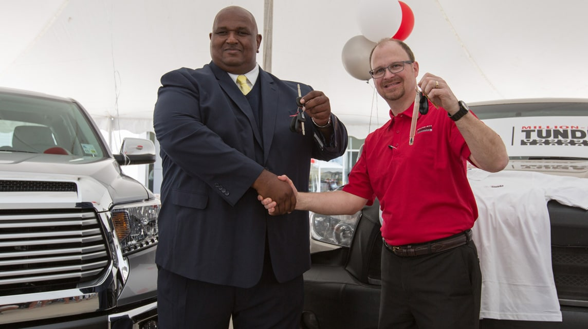 Superb Million Mile Tundra Driver Gets A Free Toyota | Rudy Luther Toyota