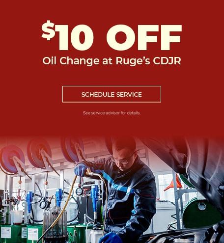 Oil Change at Ruge's CDJR