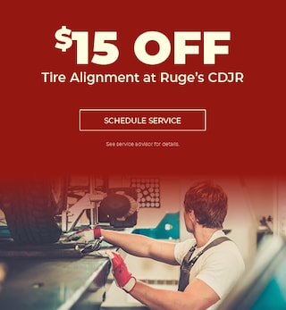 Tire Alignment at Ruge's CDJR