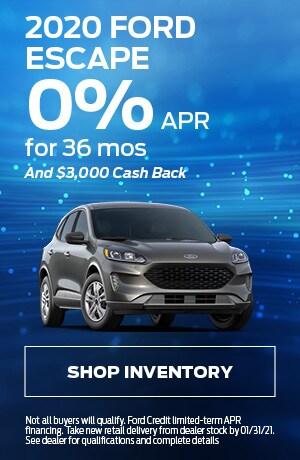 2020 Ford Escape - 0% APR