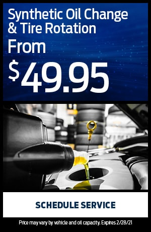 Synthetic Oil Change & Tire Rotation from $49.95
