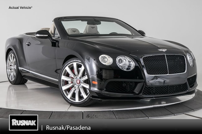 Used vehicles 2015 Bentley Continental GT V8 S Convertible for sale near you in Pasadena, CA