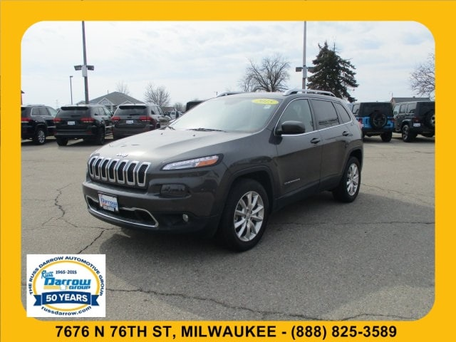 Used 2015 Jeep Cherokee Limited 4x4 SUV For Sale in West Bend, WI