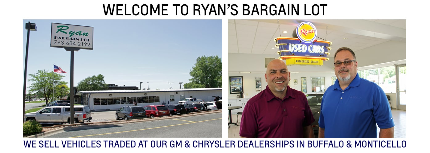 Ryan Bargain Lot | New Dealership In Buffalo, MN 55313