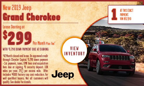 New 2019 Jeep Grand Cherokee lease