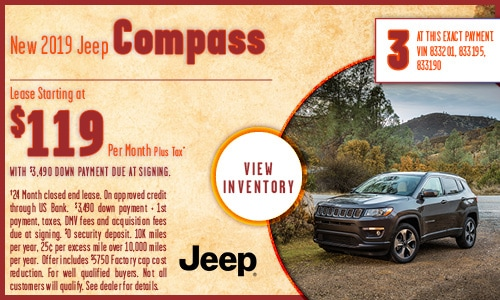 New 2019 Jeep Compass lease
