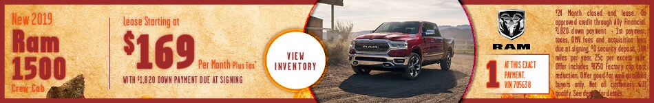 New 2019 Ram 1500 lease