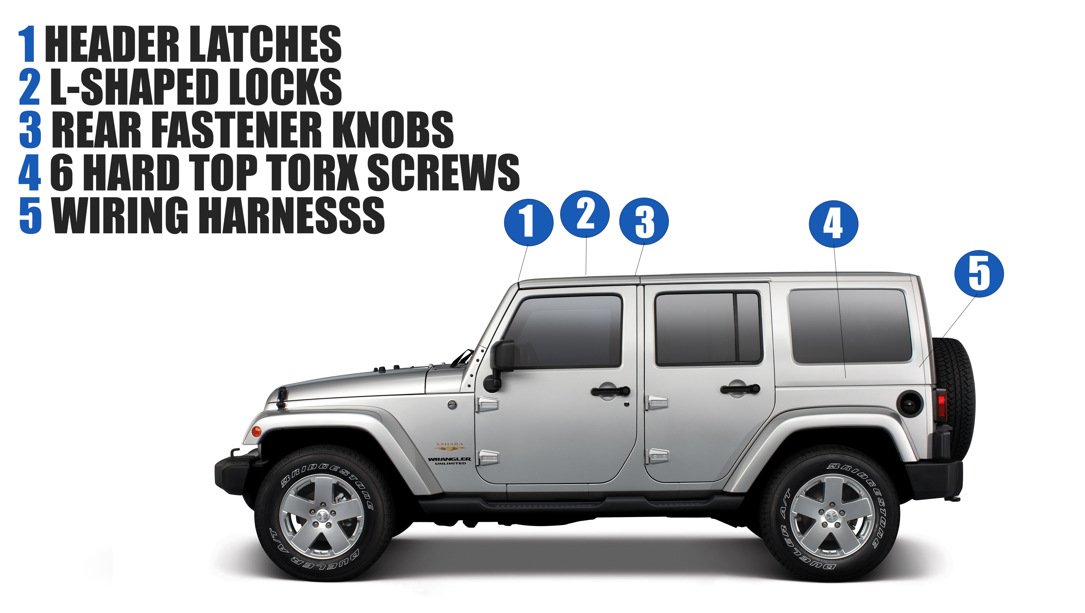 Remove The Hard Top On Your Wrangler Faqs Safford Of Warrenton Wiring Harness Clips Removal