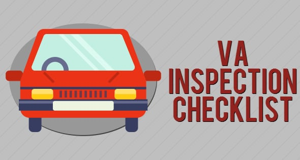 Virginia state car inspection checklist 1