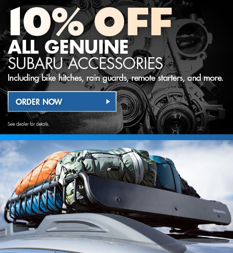 10% Off All Genuine Subaru Accessories