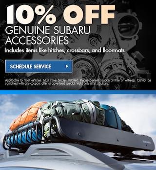 10% OFF Genuine Subaru Accessories