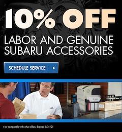 10% Off Labor And Genuine Subaru Accessories