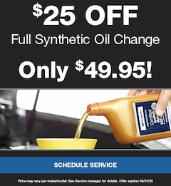 $25 Off Full Synthetic Oil Change
