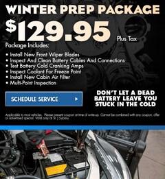 Winter Prep Package