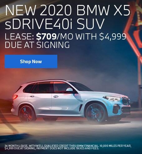 NEW 2020 BMW X5 sDRIVE40i SUV July