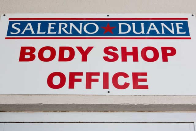 body shop sign