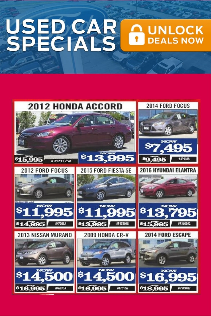 Used Car Specials Salinas Valley Ford