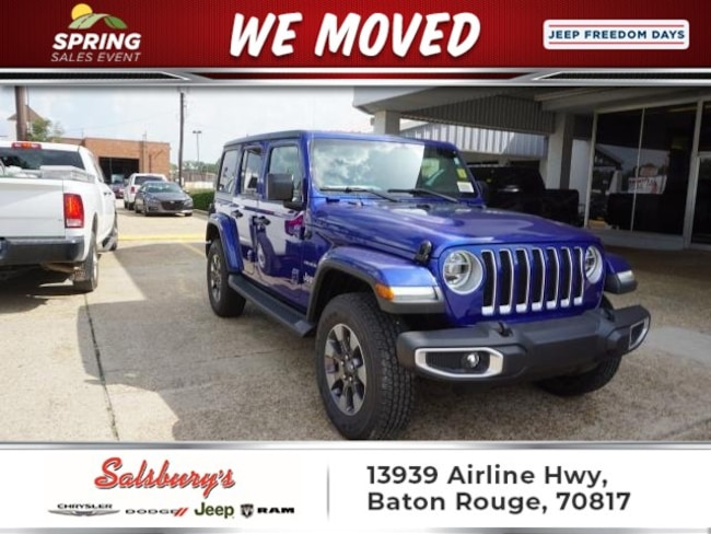 New 2018 Jeep Wrangler UNLIMITED SAHARA 4X4 Sport Utility in Baton Rouge