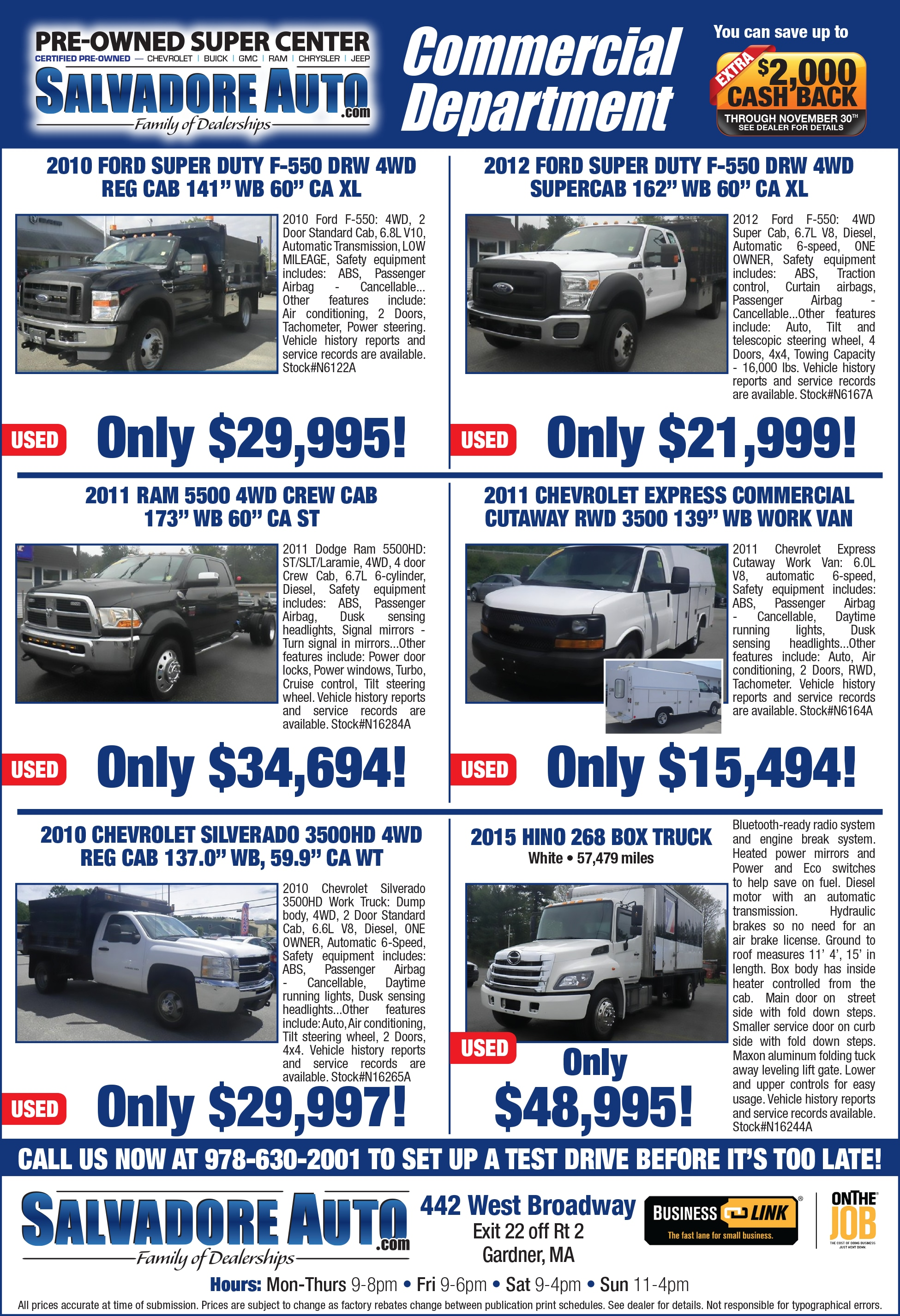 Newspaper Ads | Salvadore Chrysler Dodge Ram Dealership