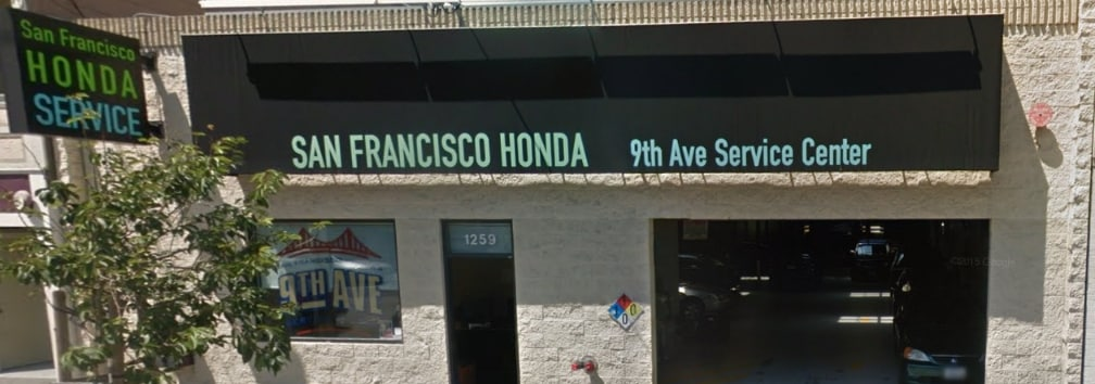 San Francisco Honda 9th Avenue Service Center Serving West SF
