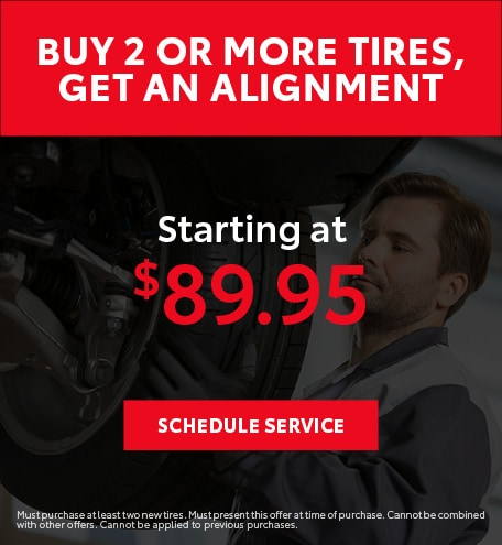 Buy 2 or More Tires, Get an Alignment
