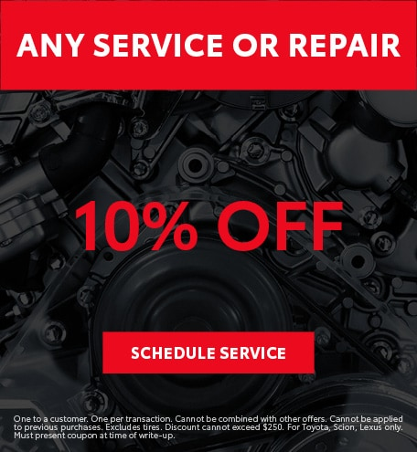 Printable Toyota Oil Change Coupons >> Service Specials Toyota Dealer