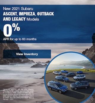 New 2021 Subaru Ascent, Impreza, Outback and Legacy Models