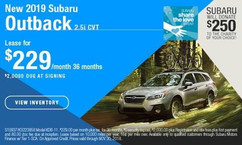 New 2019 Subaru Outback 2.5i CVT