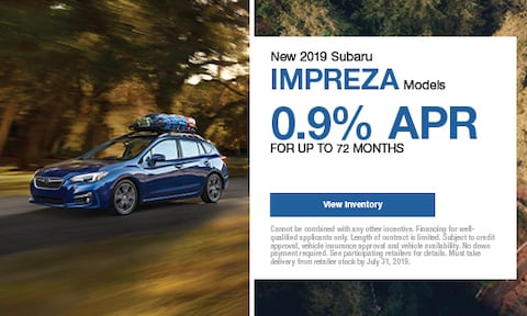New 2019 Subaru Impreza Models