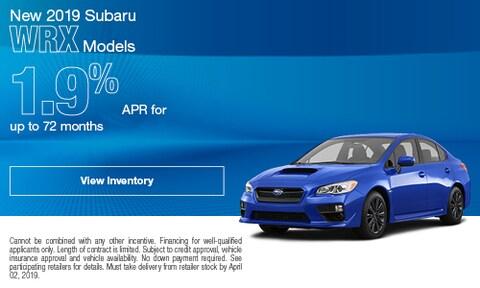 New 2019 Subaru WRX Models