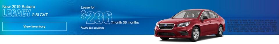New 2019 Subaru Legacy 2.5i CVT