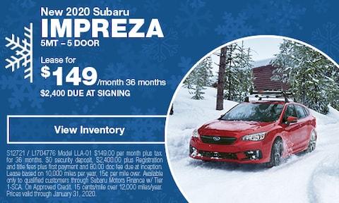 New 2020 Subaru Impreza 5MT – 5 Door
