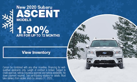 New 2020 Subaru Ascent Models