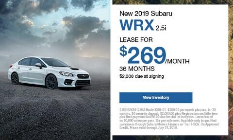 New 2019 Subaru WRX 2.5i