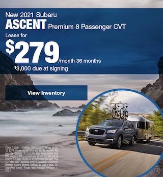 New 2021 Subaru Ascent Premium 8 Passenger CVT
