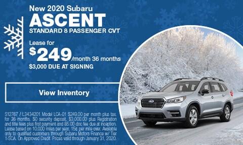 New 2020 Subaru Ascent Standard 8 Passenger CVT