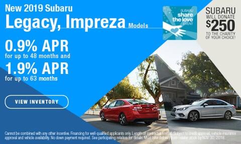 New 2019 Subaru Legacy, Impreza Models
