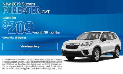 New 2019 Subaru Forester CVT