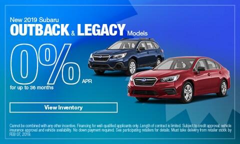 New 2019 Subaru Outback & Legacy Models