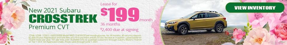 New 2021 Subaru Crosstrek Premium CVT- May Offer