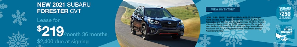 New 2021 Subaru Forester CVT