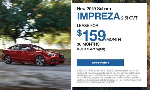 New 2019 Subaru Impreza 2.0i CVT